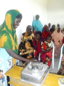 Women in Kebribeyah participate in stove use and safety trainings.