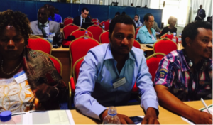 Wubshet Tadele and Desalegn Getaneh attend the Africa Carbon Forum in Kigali
